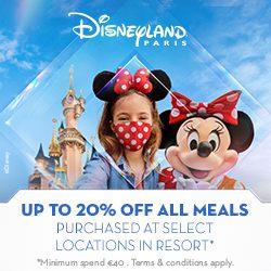 20% off dining disneyland paris offer