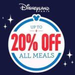 20% Off Dining Offer - Disneyland Paris