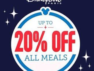 20% off all meals offer Disneyland Paris