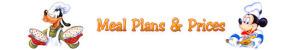 Disneyland Paris Meal Plans